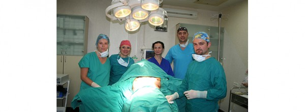 PROESTETICA team during a regenerative surgical intervention